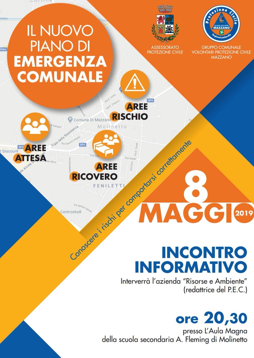Il nuovo Piano di Emergenza Comunale - Incontro Informativo