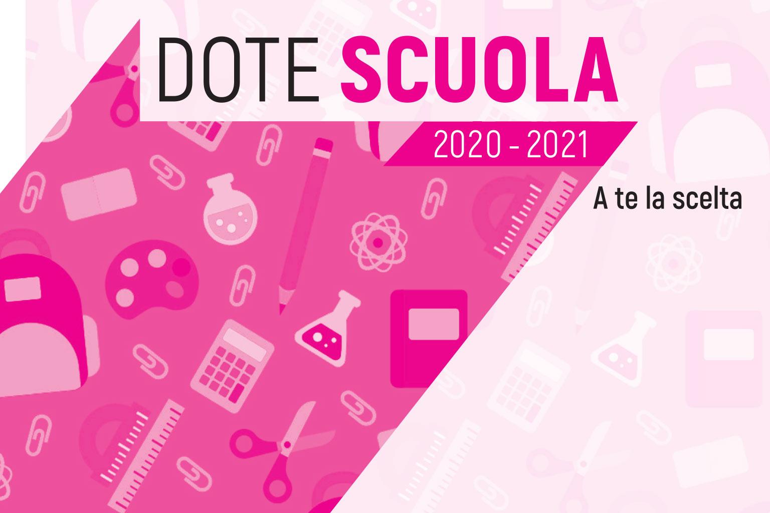 Informativa  Dote Scuola anno scolastico 2020/2021